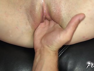 Brunette Inga loves when their way asshole is penetrated hard
