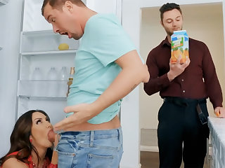 Wife's big Bristols seduced nanny all over fuck hardcore