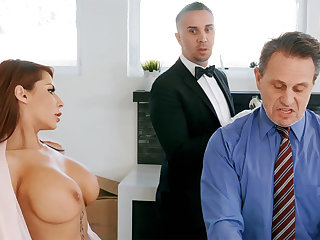 Gung-ho butler is available to anal be crazy housewife