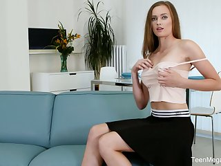 Successful leggy babe Stacy Cruz is masturbating their way delicious pussy with sexual connection toy