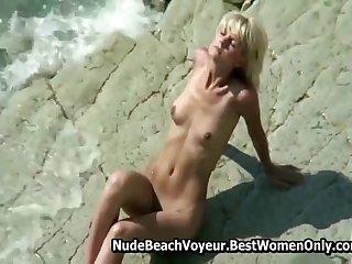 Amazing Amateur Blonde On Naturist Beach Approximately Photos
