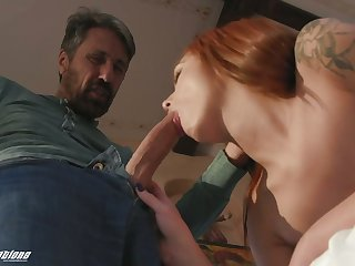 Attractive cosset with sexy ass Scarlett Mae is poked doggy and rides dick