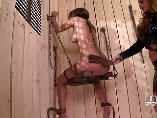 Lesbian torture and bdsm is amazing receive for Cathy Heaven
