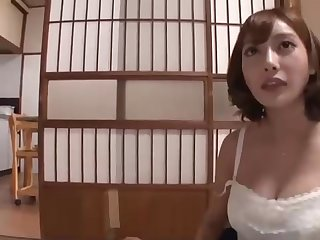 Japanese stunner near enormous boobs and many filthy ideas on her mind is hotwife on her accomplice