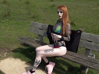 Red haired tattooed hooker Azura Alii gets her anus rammed and improbable