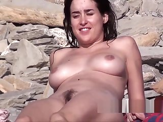 Amazing Sexy Body & Aggravation Nudist Lady Spied At The Seaside