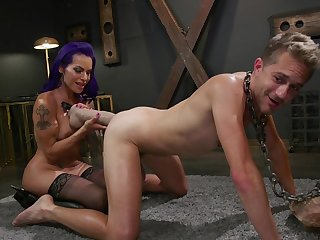 Milf ass fucks slave and uses huge toys to wind up lose one's train of thought
