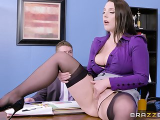 Super busty secretary seduces their way boss fro the office