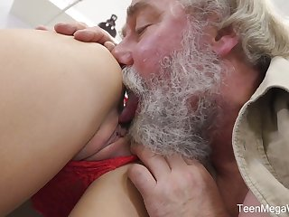 Naughty Czech girl Katy Rose lets bearded pickuper fuck will not hear of wet pussy