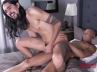Excellent hard sex in anal scenes for two gay lovers