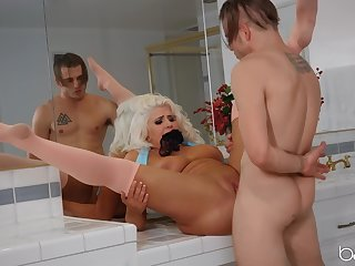 Horny stud loves to bang his mature neighbor Kristina Shannon