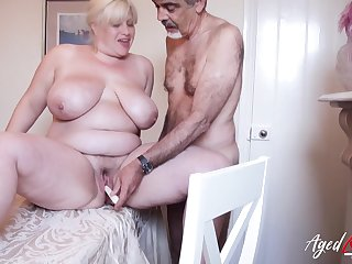 Mature young gentleman with huge boobs got fucked entirely well catechism different intercourse positions