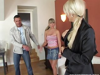 Spliced loves to cag her husband as A he fucks his lover Kristina M