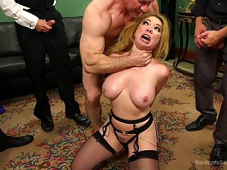 Long time since this wife's last imbecilic gang bang porn play