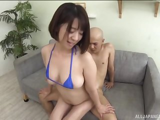 Hot ass Asian cosset Wakaba Onoe licks and fucked from behind