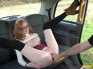 Ginger slut shares a bit of sexual fun primarily her showing digs