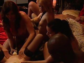 Steamy vocal copulation in a lusty swinger orgy