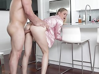 Hot uncle's wife regarding pajama Addie Andrews offers herself regarding the kitchen