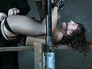 Real slaved spread out with nice pubic hair Dakota Marr is made be beneficial to some BDSM