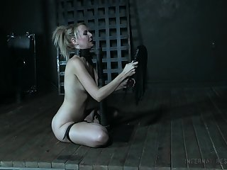 Acupuncture BDSM film over featuring naughty SM model Aali Kali
