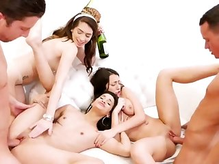 Teen obeying boss orgasm hd Way-out Years Eve Party