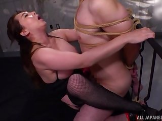 Slutty Japanese lady Kazama Yumi teases with reference to her ass and gets fucked