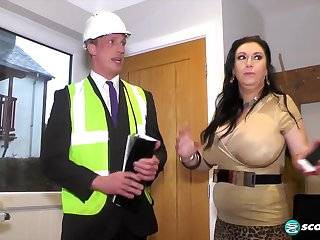 British curvy MILF Sabrina Drill and traffic inspector - layman reality hardcore