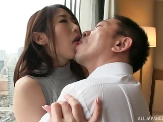 Gentle fucking in chum around with annoy hotel room with a provocative Japanese girl