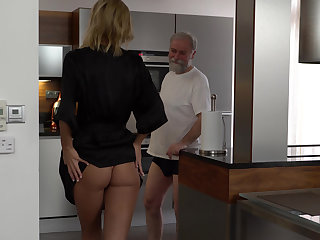 Grandpa's yearning for young pussy