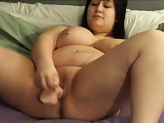 BBW shoves a dildo in yourself beyond cam 2